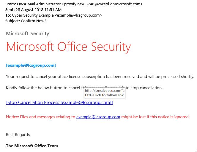 Avoid the Office 365 Phishing Scam - LCS Group Ltd